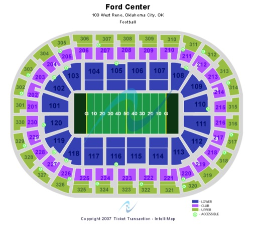 Chesapeake Energy Arena Football