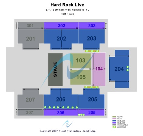 Hard Rock Live At The Seminole Hard Rock Hotel & Casino - Hollywood Half House