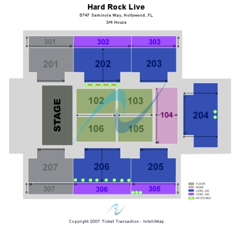 Hard Rock Live At The Seminole Hard Rock Hotel & Casino - Hollywood Three Quarter Stage