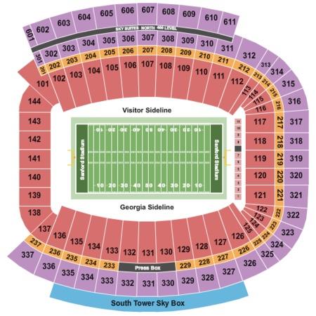 Sanford Stadium Tickets In Athens Georgia Sanford Stadium