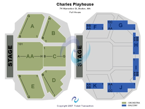Charles Playhouse End Stage