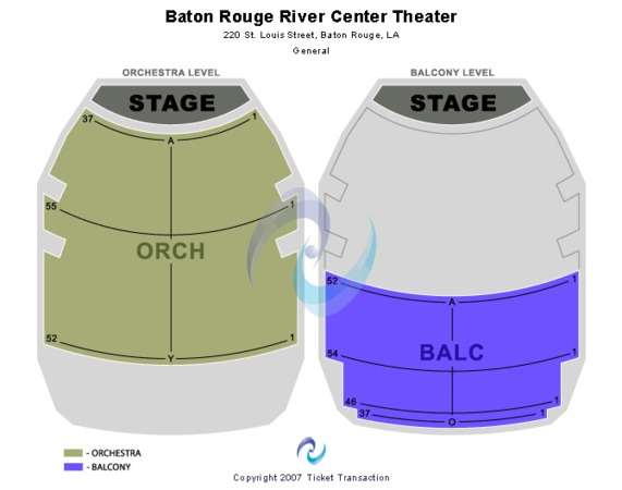Raising Cane's River Center Theatre End Stage