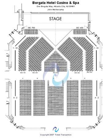 Borgata Atlantic City Concerts Seating Chart