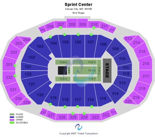 Sprint Center End Stage 6 Floor Sections