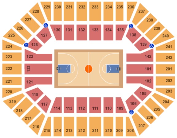 Hilton Coliseum Tickets In Ames Iowa Hilton Coliseum Seating Charts