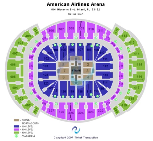 AmericanAirlines Arena Celine Dion