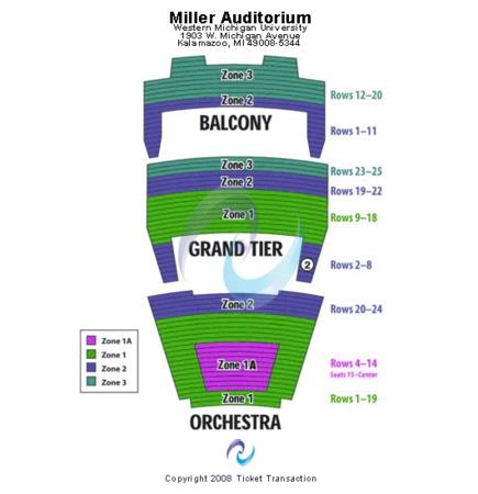 Miller Auditorium Western Michigan University End Stage