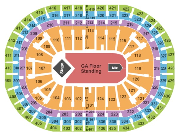 Centre Bell End Stage GA Floor