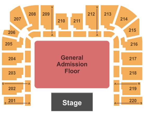 Roy Wilkins Auditorium At Rivercentre End Stage - GA Floor