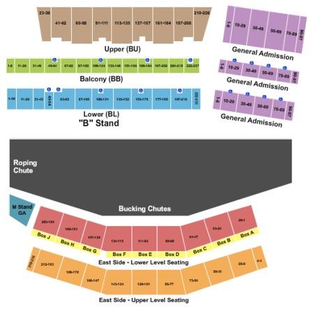 Cheyenne frontier days tickets in cheyenne wyoming seating charts