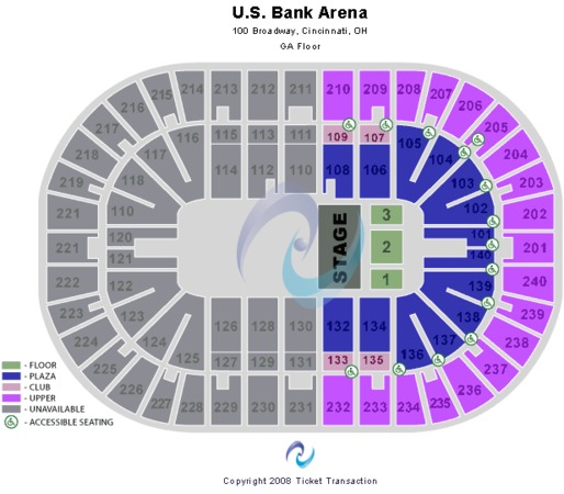 US Bank Arena Floor