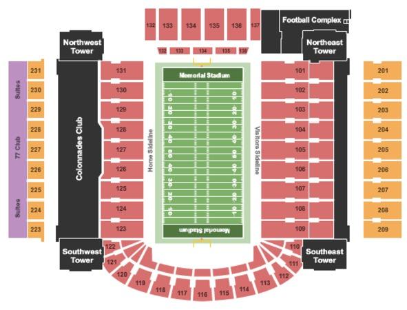 memorial stadium illinois seating chart: Memorial stadium tickets in champaign illinois memorial stadium