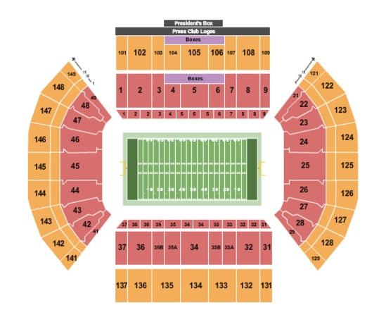 Lavell Edwards Stadium Tickets in Provo Utah, Seating ...