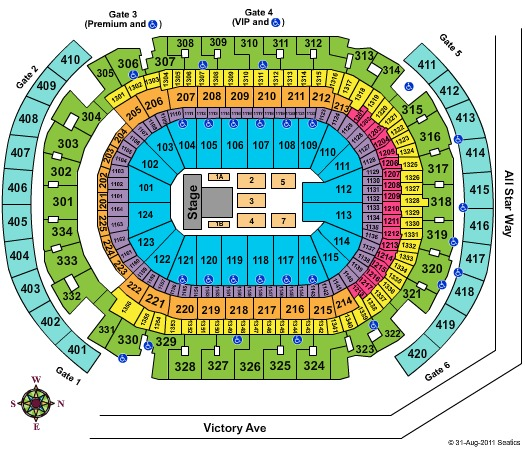 AmericanAirlines Arena SYTYCD - CONTACT MAPS TEAM BEFORE USING