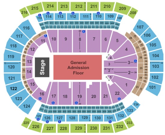 Prudential Center End Stage GA Floor