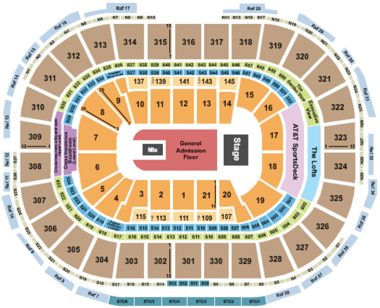 TD Garden End Stage GA Floor