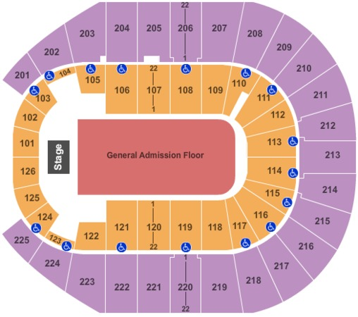 Verizon Arena End Stage GA Floor