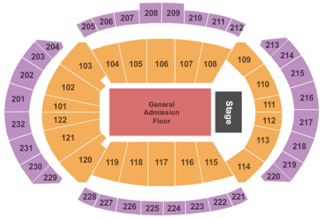 Sprint Center End Stage GA Floor