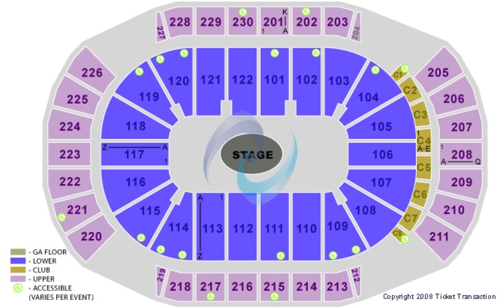 Gila River Arena Center Stage GA Floor