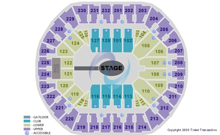 Oracle Arena Center Stage GA Floor