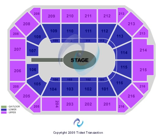 Allstate Arena Center Stage GA Floor