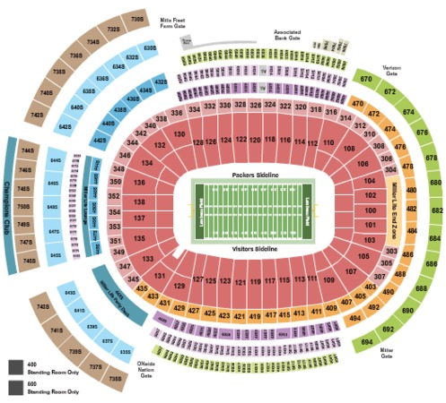 Lambeau Field Tickets In Green Bay Wisconsin Lambeau