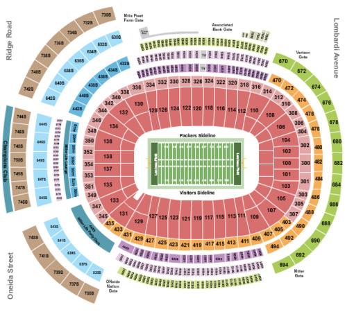Lambeau Field Tickets In Green Bay Wisconsin Lambeau
