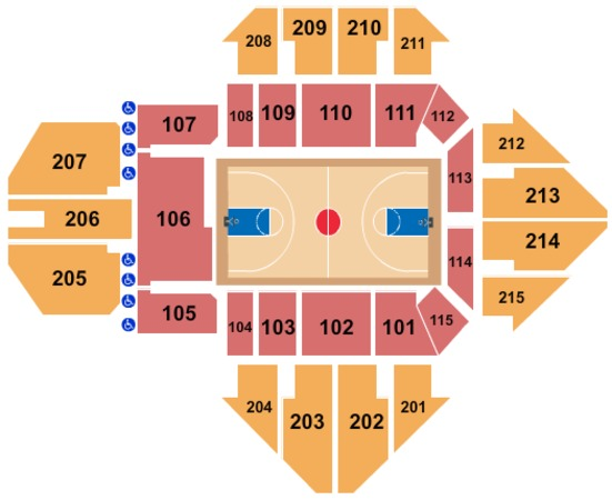 Finneran Pavilion Seating Chart