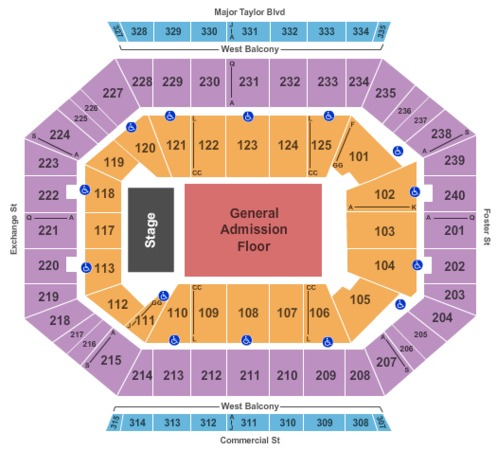 DCU Center End Stage GA Floor