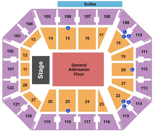 Mohegan Sun Arena End Stage GA Floor
