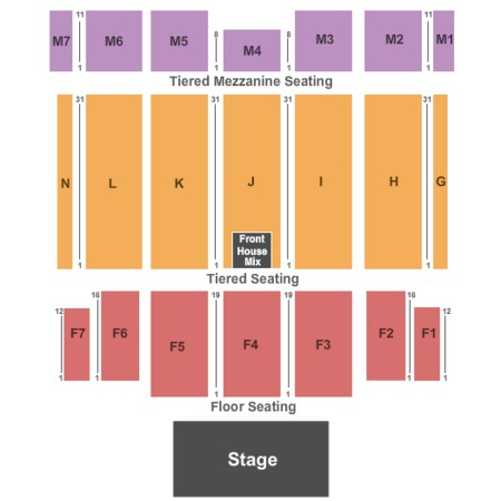 Caesars Windsor Seating Map