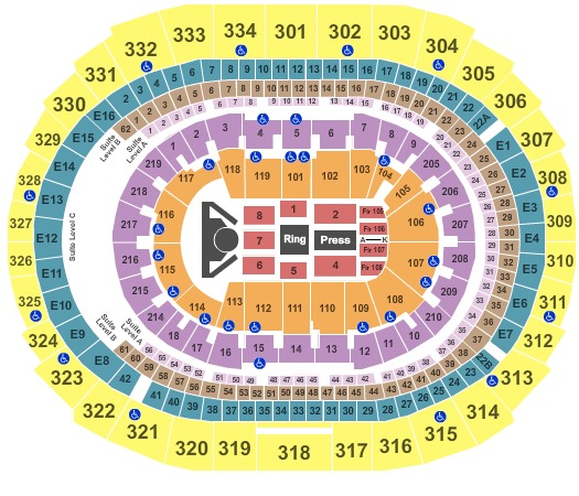 Staples Center Boxing (CONSULT MAPS TEAM BEFORE USING)
