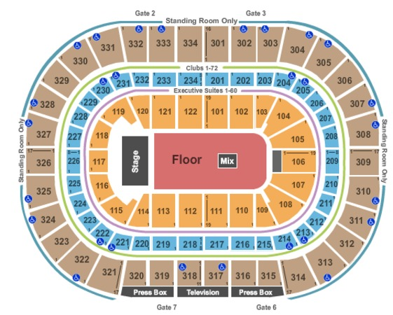 United Center End Stage GA Floor
