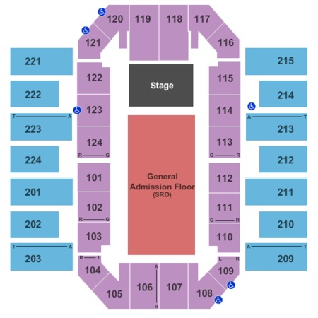 James Brown Arena End Stage GA Floor
