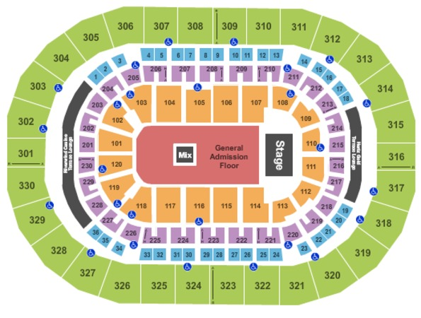 Chesapeake Energy Arena Endstage GA Floor