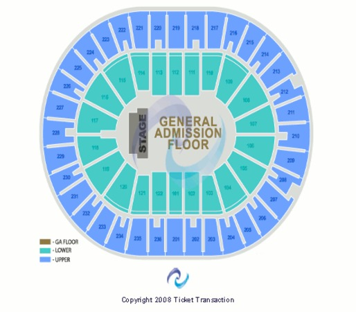 Amway Arena End Stage GA Floor