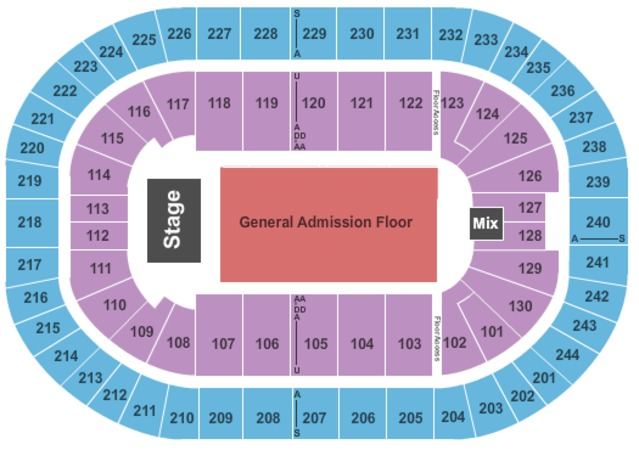 Times Union Center End Stage GA Floor
