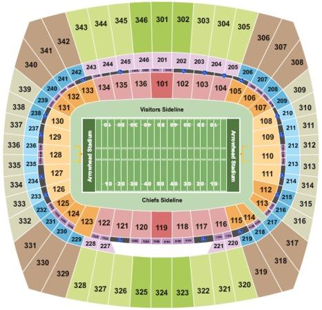 Arrowhead Stadium Tickets in Kansas City Missouri ...