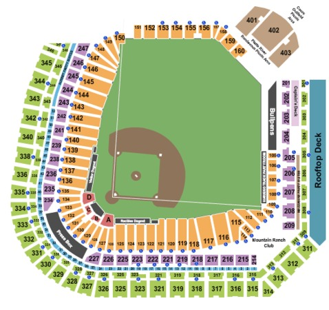 Coors Field Tickets in Denver Colorado, Coors Field Seating Charts ...