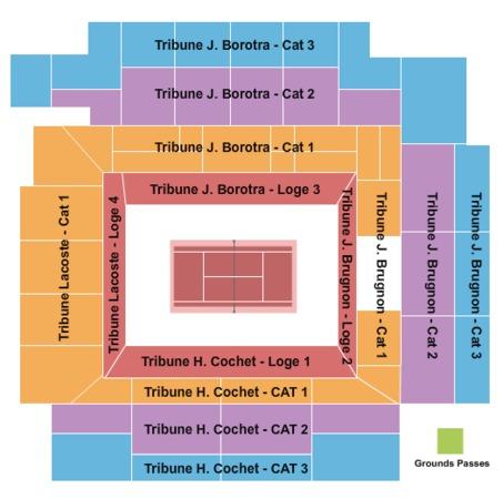 Court Philippe Chatrier Tickets In Paris Ville De Paris