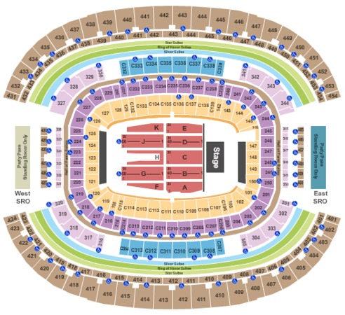 At t stadium tickets in arlington texas at t stadium seating charts