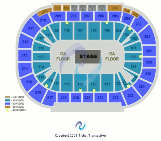 Mandalay bay events center center stage ga