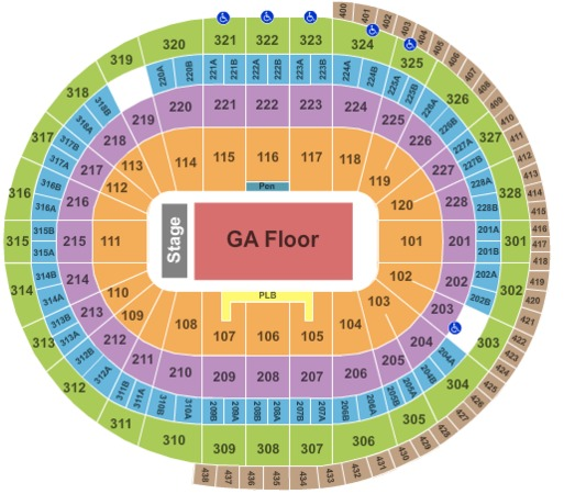 Canadian Tire Centre End Stage GA