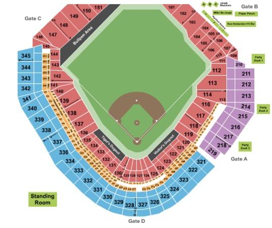 Comerica Park Baseball
