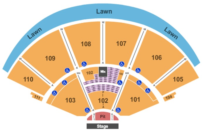 The Cynthia Woods Mitchell Pavilion Tickets In Spring