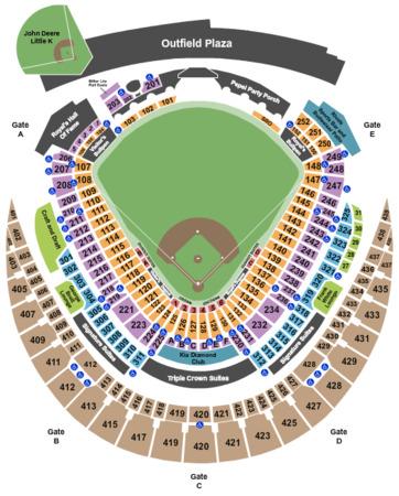 Kauffman Stadium Tickets In Kansas City Missouri Kauffman Stadium