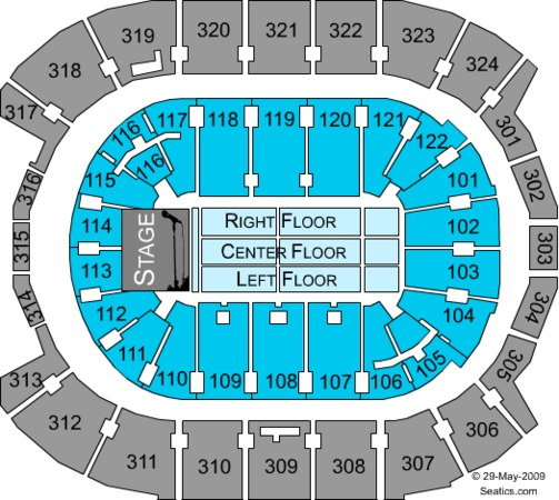 Air Canada Centre West End Stage Lower Bowl