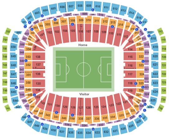 Nrg Stadium Tickets In Houston Texas Nrg Stadium Seating