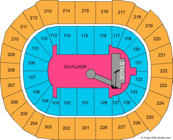 SAP Center GA Floor
