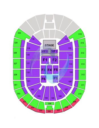 BOK Center Miley Cyrus map